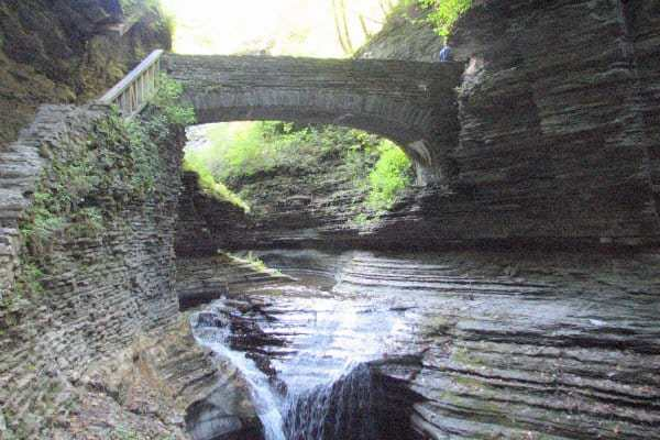Stone Bridge at Watkins Glen State Park, Watkins Glen Finger Lakes NY