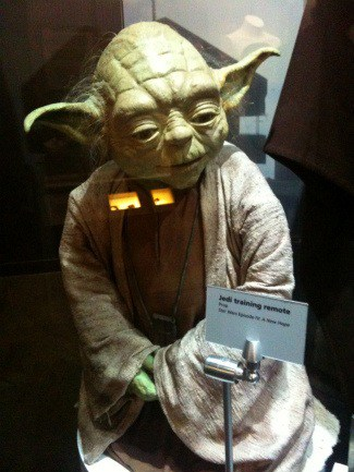 Yoda at Star Wars Exhibit