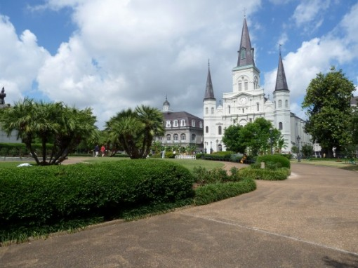 New Orleans - Place d'Armes Park & St. Louis Cathedral