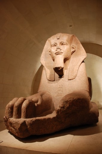 A sphinx from the Ancient Egyptian exhibit