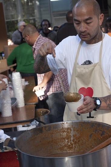 Preparing food a San Francisco Street Food Festival
