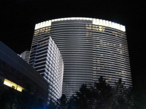 Aria Hotel & Casino Las Vegas at night