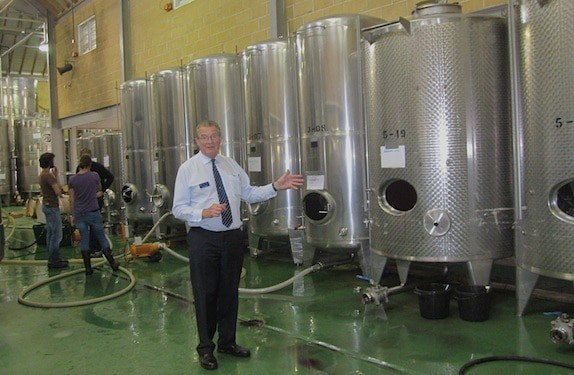 Victor Talking About The Wine Process At Denbies