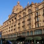 shopping at Harrods in London