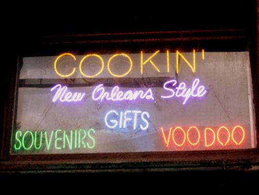 Neon sign in New Orleans. (photo by Tui Snider)