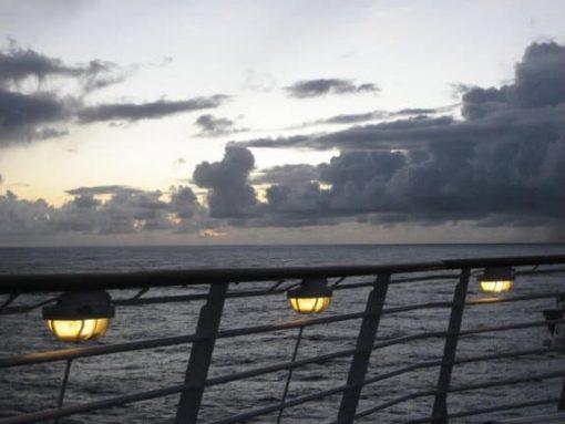 Transatlantic sky. (photo by Tui Snider)