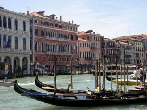 Venice gondolas. (photo by Tui Snider)