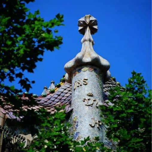 Architecture by Gaudi-Courtesy of Barcelona Turisme