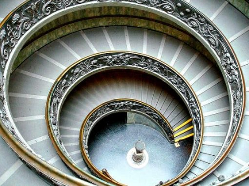 Double helix stairs at Vatican Museum, Italy