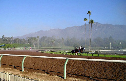 Santa Anita horse racing track Los Angeles