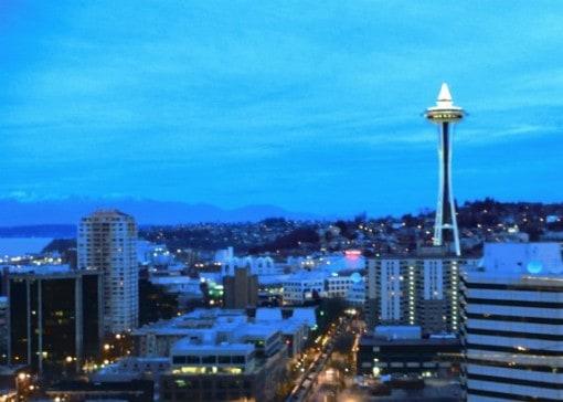 Seattle vivid at dusk