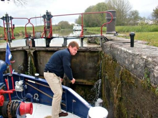 clearing locks on french barge cruise