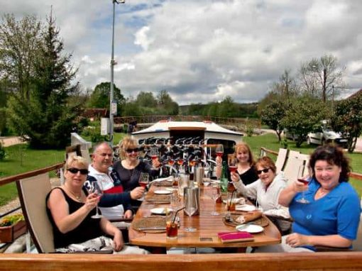 dining on french barge cruise