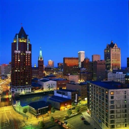 Milwaukee Wisconsin at night