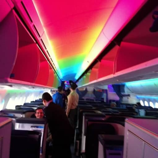 boarding lights ANA Dreamliner