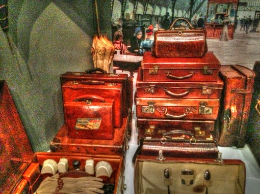 Vintage luggage at the handbag museum in Amsterdam