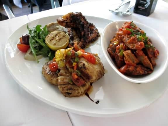 specialty items at Volos restaurant Toronto