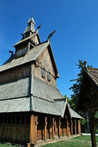 lifesize replica of a Norwegian Stave Church
