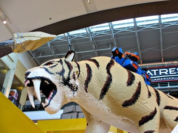 Lego tiger at Nickelodeon Universe