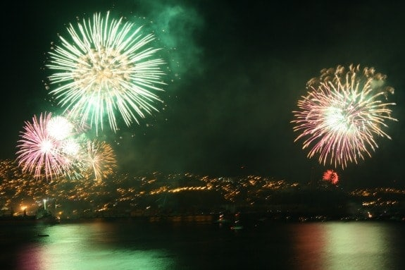 New Years Eve fireworks in Valparaiso