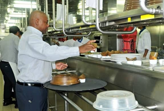 In the kitchen with Conquest Senior Team Head Waiter Ronnie Lindon