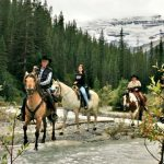 horseback riding in the Canadian Rockies