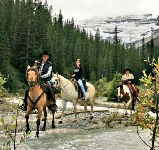 Horseback riding at Fairmont Chateau Lake Louise in the Canadian Rockies