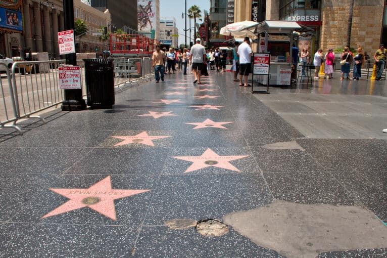 hollywood stars sidewalk photo