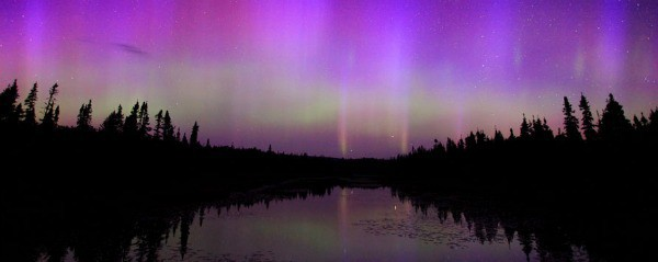 Aurora Borealis in the Great Lakes region