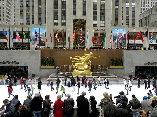 ice skating at rockefeller center photo