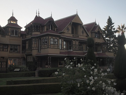 winchester mystery house night photo