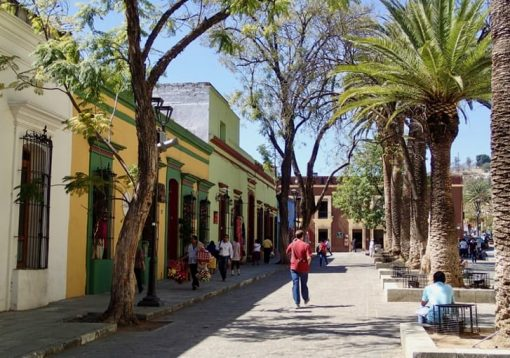 Typical street in oaxaca