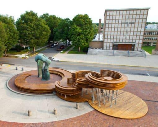 Conversation Plinth, Exhibit Columbus