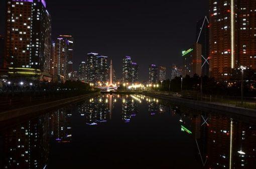 incheon south korea at night