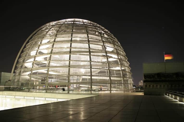 The Gleaming Glass Dome of the Reichstag – A 360 Degree View of Germany's Historic Capital