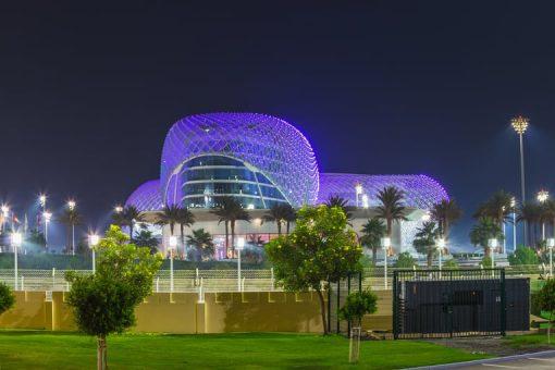 Formula Rossa rollercoaster at Ferrari World, Abu Dhabi
