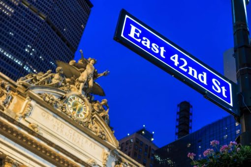 Grand Central Station and 42nd Street signage