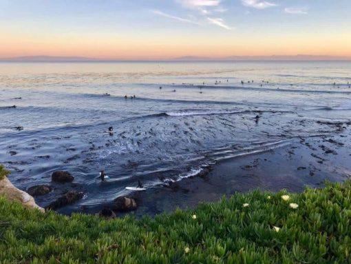Pleasure Point Beach in Santa Cruz via Unsplash