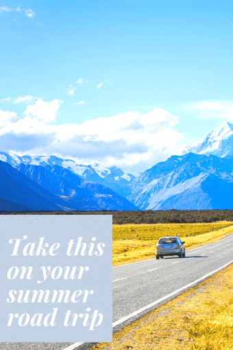 Add these items to your summer road trip packing list. #summer #roadtrip #travel #selfcare