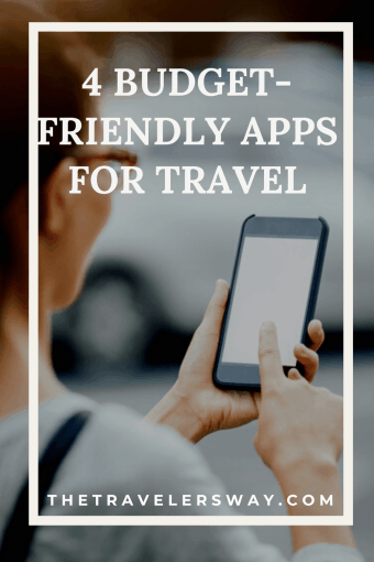 A woman using a budget friendly travel app on her phone.