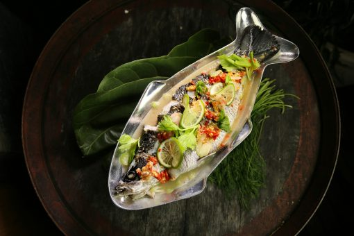 barramundi is firm and moist, with a sweet, buttery flavor, and is rich in omega 3 and protein.