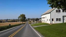 A road through Pennsylania Amish Country