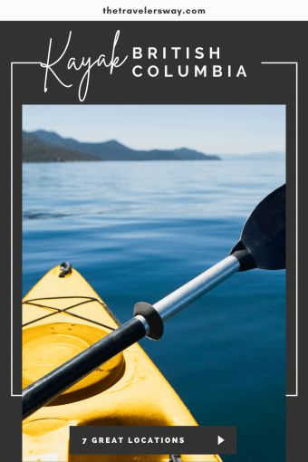 kayak on calm waters on sunny day in british columbia canada