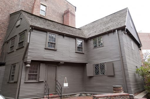 Paul Revere House is a historic wooden house in Boston's North End that dates back to the colonial era.
